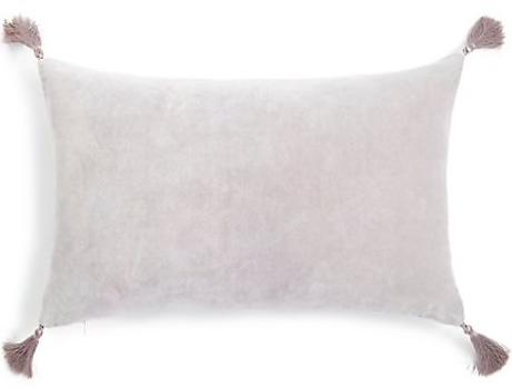 Roomy Home Marks and Spencer M&S Home velvet tassel cushion silver