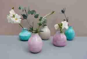 Etsy gift guide enamel bud vase trio