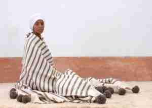 Etsy gift guide handwoven Moroccan pompom blanket