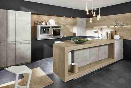 Roomy Home Nolte kitchen Stone Beton concrete interior McCann Moore Architects