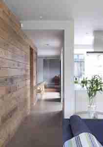 Roomy Home concrete interior floor Panelled walkway McCann Moore Architects