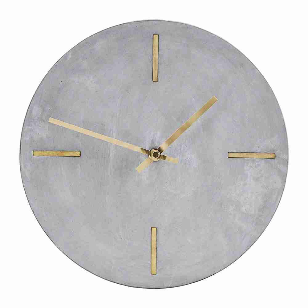 Roomy Home concrete interior luxe Amara House Doctor concrete wall clock