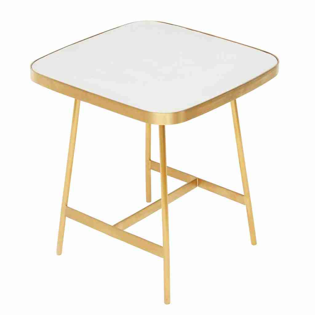 Roomy Home concrete interior luxe Barker and Stonehouse Aero side table