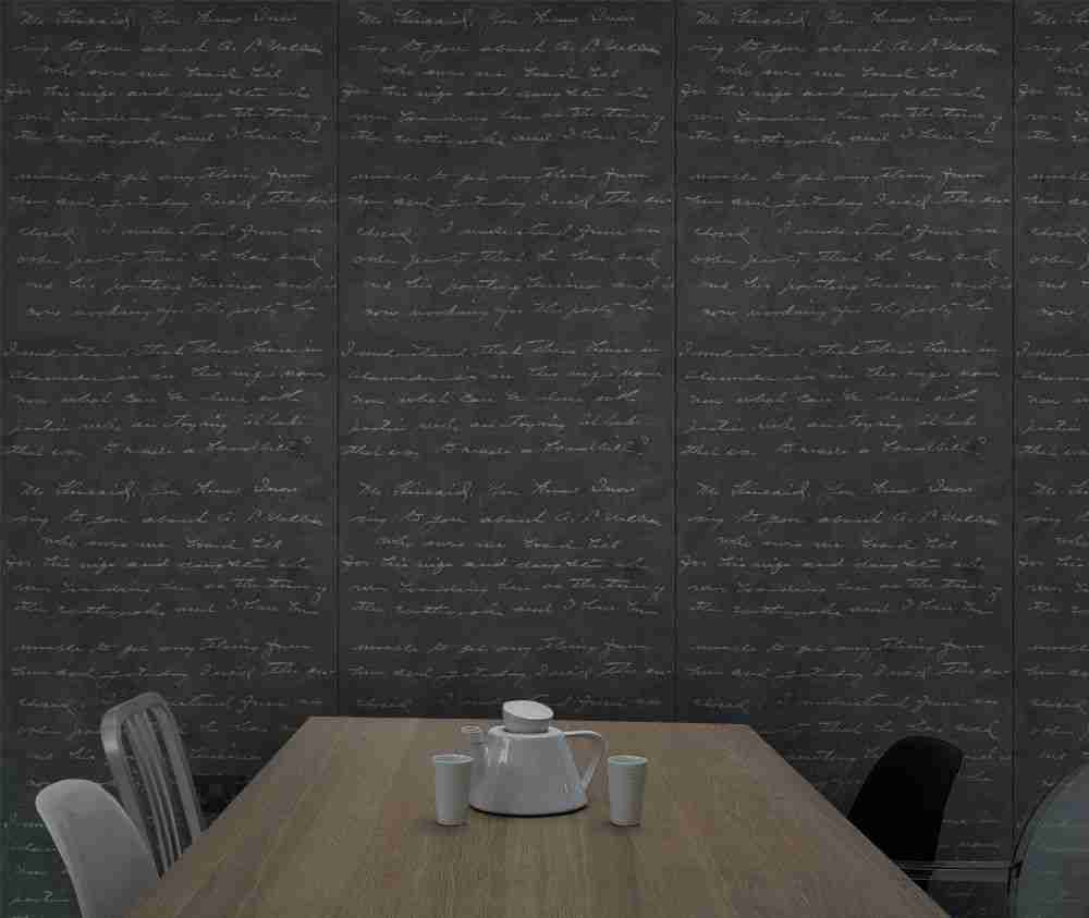 Roomy Home concrete interior luxe Clippings Mineheart Loveletter concrete wallpaper