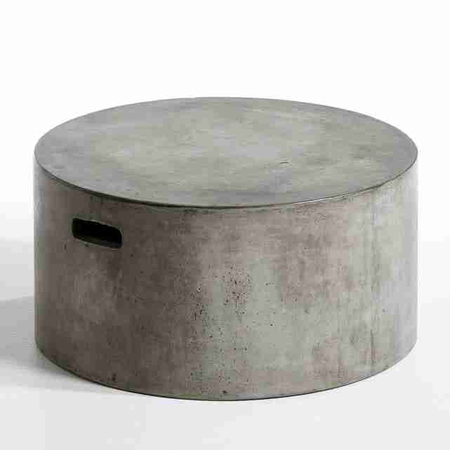Roomy Home concrete interior luxe La Redoute Tatum table