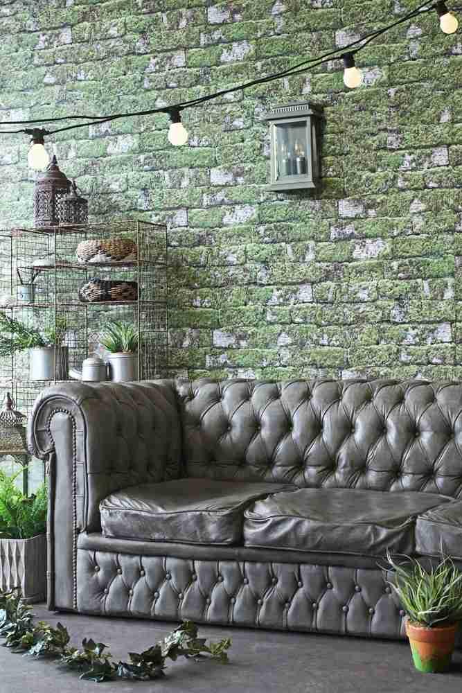 Roomy Home concrete interior luxe Rockett St George concrete chesterfield sofa
