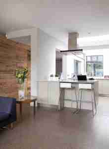 Roomy Home kitchen polished concrete interior floor McCann Moore architects