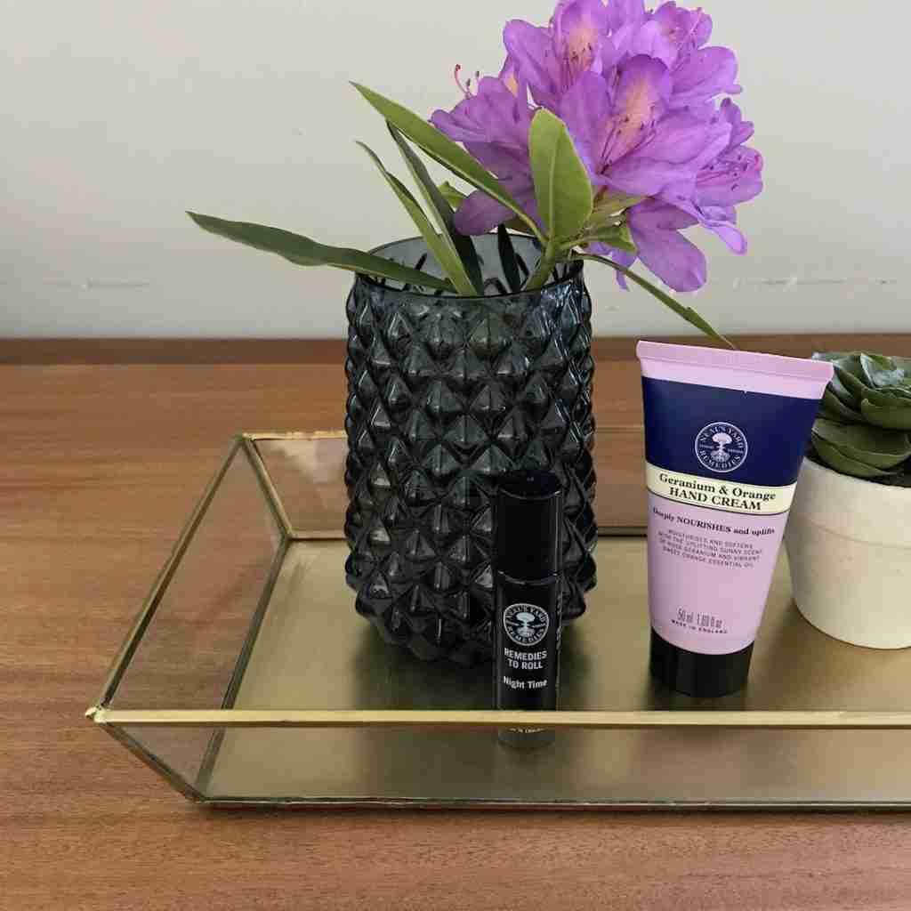 Roomy Home Hema interiors edit gold tray small vase