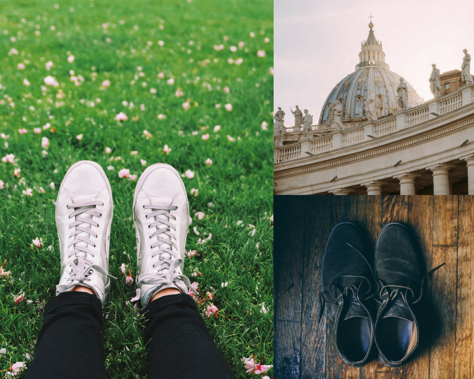 Roomy Home Postcard from Rome travel writing Sue Moore story Rome shoes Pope marathon